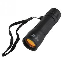 Protable 10x25 Mini Monocular Telescope Handy Eyepiece Lens Hiking Hunting Camping Sports With Arming Strap(China)