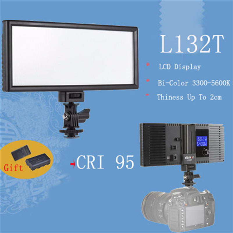 Viltrox L132T LED Photography Video Light Panel Ultra Thin LCD Display Lamp For Canon Nikon DSLR