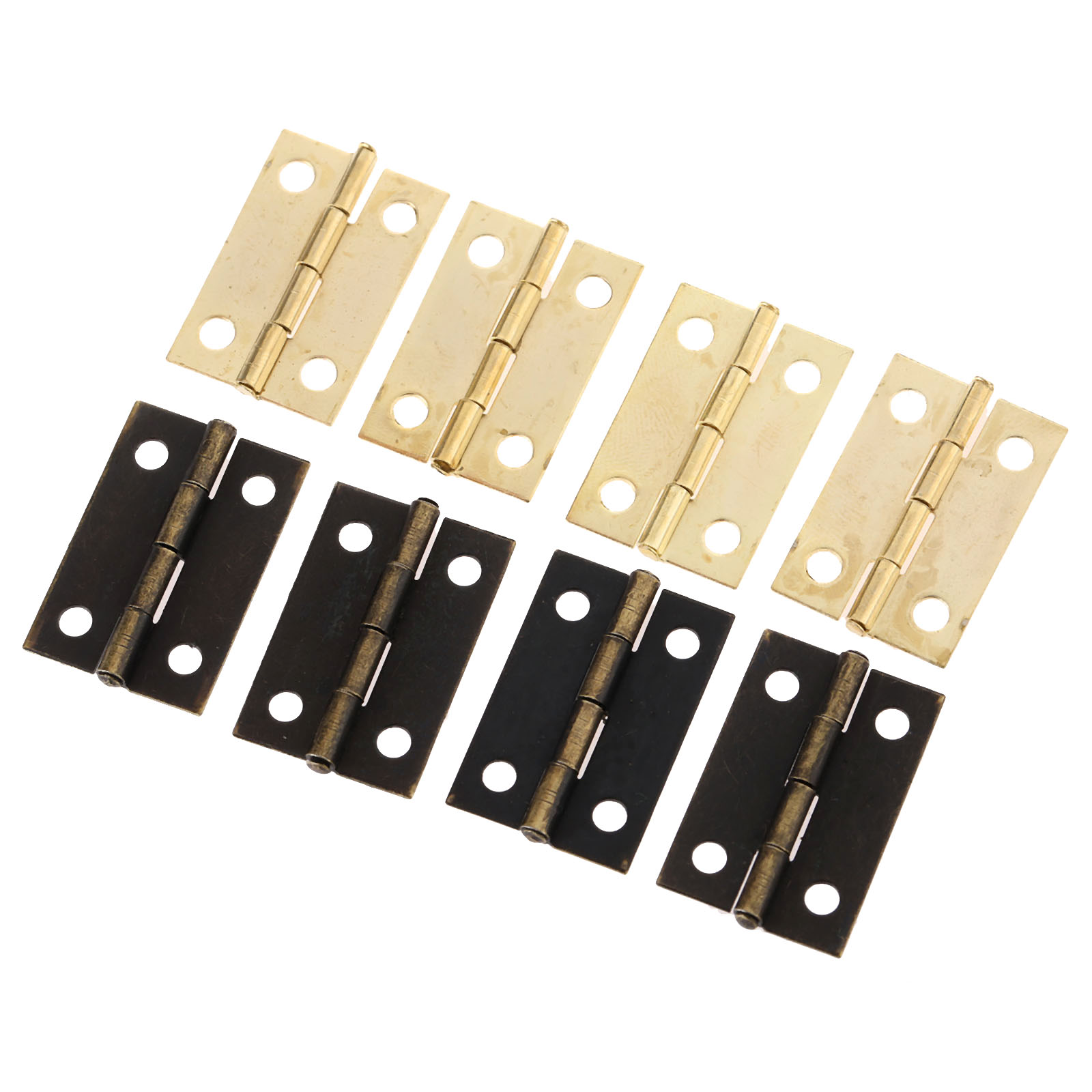 50Pcs 24*16mm Furniture Cabinet Drawer Door Butt Hinge Wood Jewelry Box Decorative Hinges for Furniture Hardware Bronze Gold