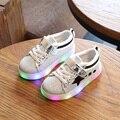 Crianças shoes com meninos de luz growin levou girls shoes crianças sneakers primavera esporte conduziu a luz running shoes crianças shoes eu21-30