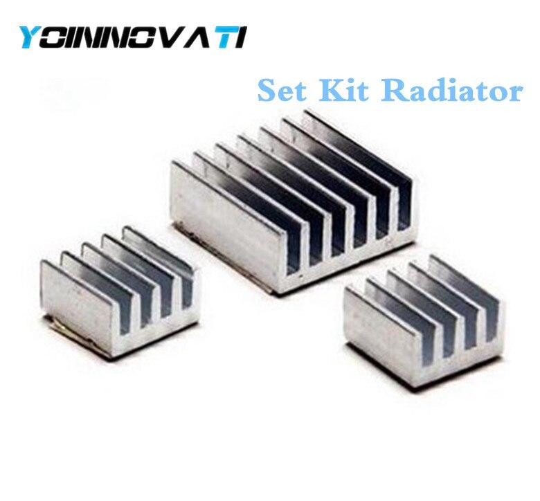 10Set Raspberry Pi 3 Heatsink Fans Pure Aluminum Heat Sink Fr Cooling Pi 2 30Pcs