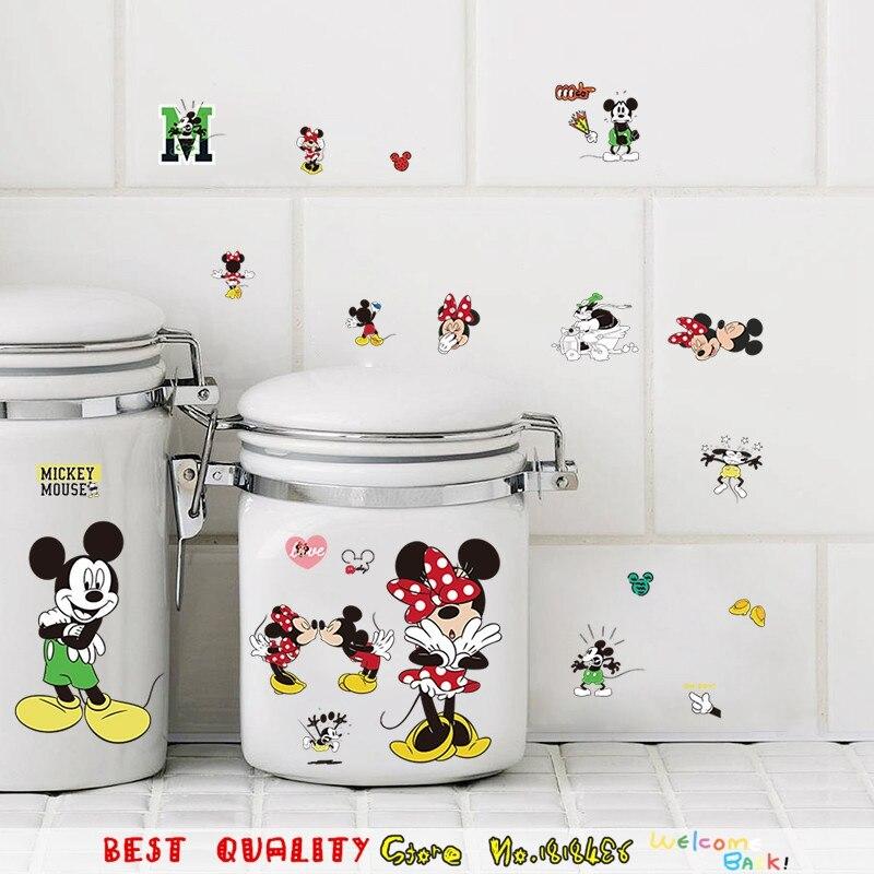 Encantadora Mickey Minnie Mouse Kids Room Decor Home Tatuajes, diy equipo de coc