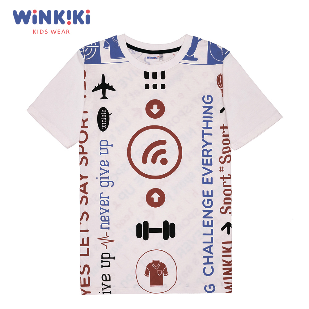 Фото - T-Shirts Winkiki WSB91460 T-shirt kids children clothing Cotton White Boys Casual grizzly territory t shirt [large] white
