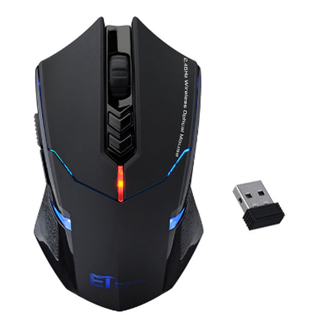Professional Wireless Mouse 2000DPI Adjustable 7 Buttons Scroll Wheel 2.4G USB 2.0 Gaming Mouse for Computer PC Desktop Laptop