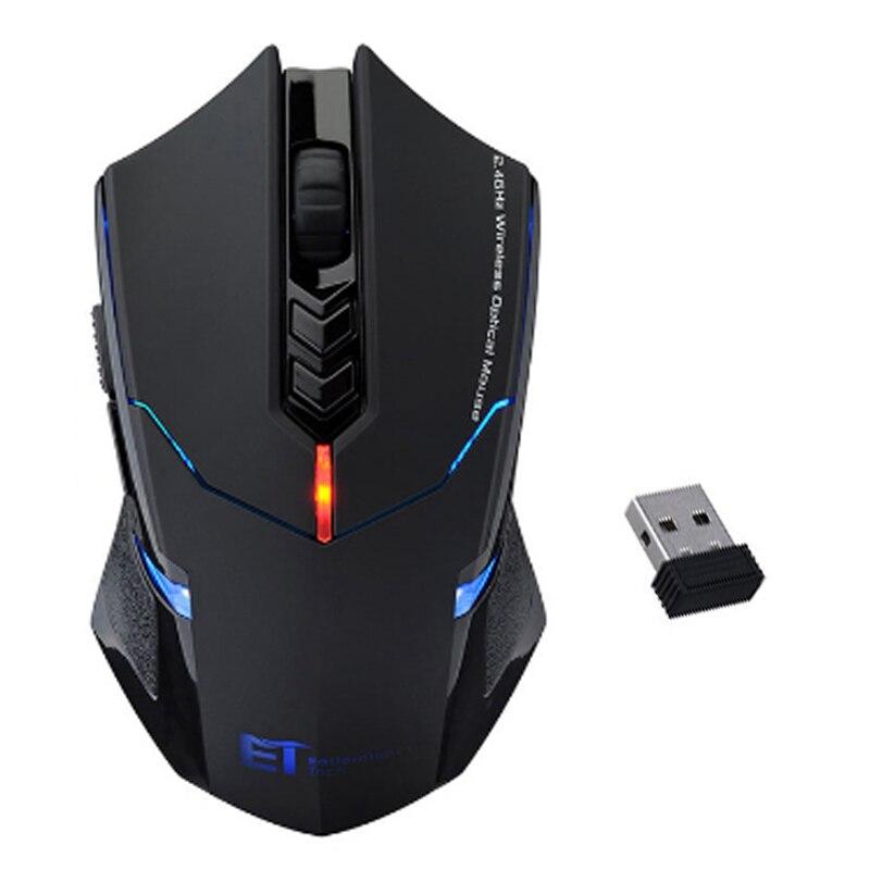 Professionale Wireless Mouse 2000 DPI Regolabile 7 Pulsanti Scroll Wheel 2.4G USB 2.0 Gaming Mouse per Computer PC Desktop Laptop