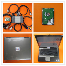 mb star c3 with d630 laptop ram 2g with software 120gb hdd car diagnostic tool ready