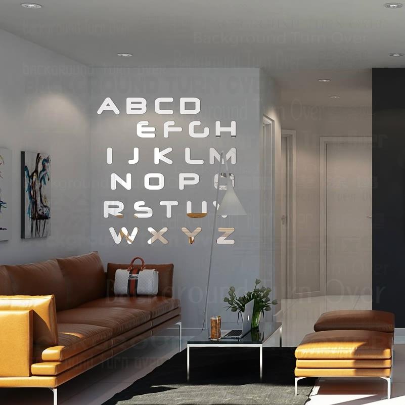 Elegante Letras de Inglés Cita Decorativa Espejo Pegatinas de Pared - Decoración del hogar - foto 3