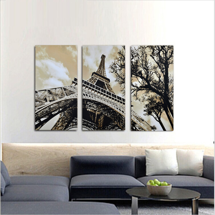 Aliexpress.com : Buy 3Pcs/Set Modern Picture Canvas Painting Wall Pictures  For Living Room Decoration Paris City Eiffel Tower No Frame From Reliable  Picture ... Part 36