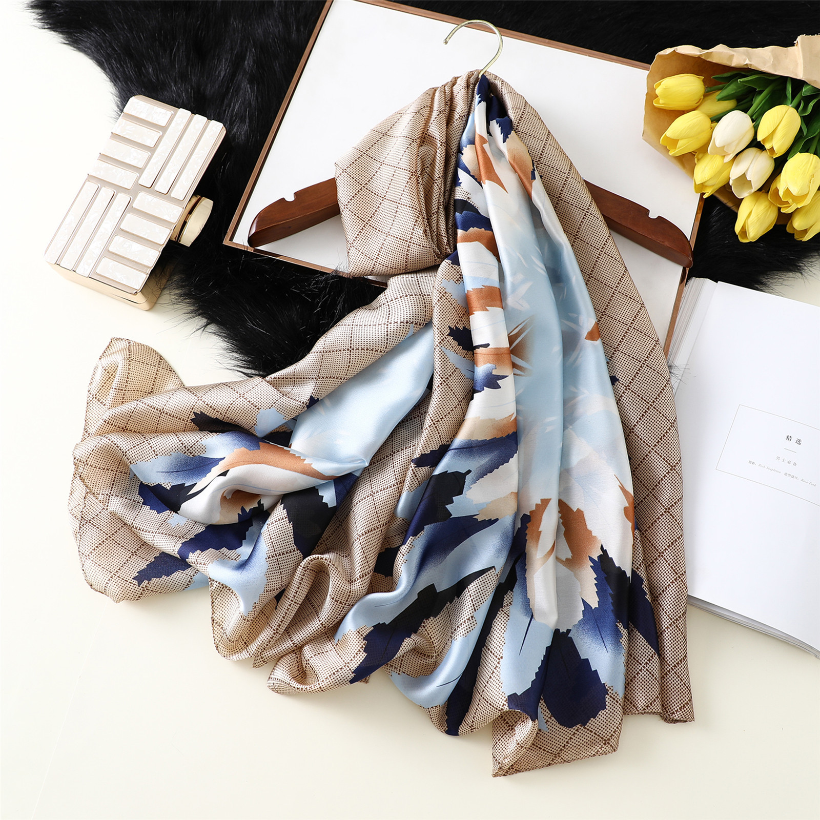New 2019 Silk   Scarf   Design Female Foulard Hijab Scarfs Summer Lady Shawl Beach Cover - ups   Scarves     Wraps   Neck Headband pashmina