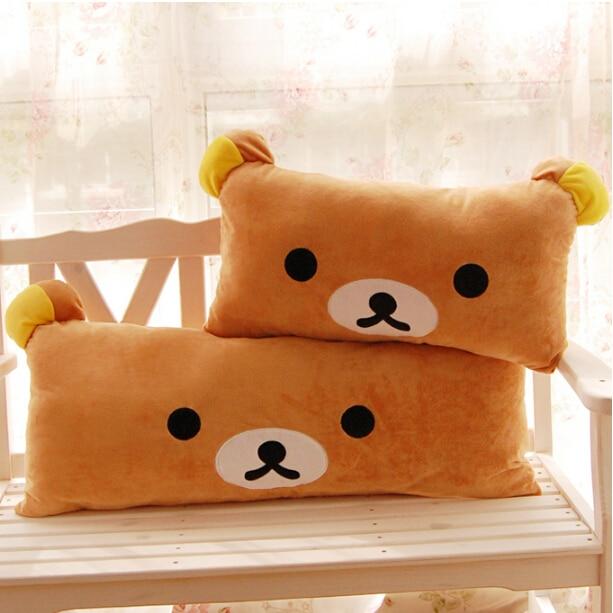 1pc Huge Size Cartoon Rilakkuma Bear Plush Pillow Large Stuffed Sofa Cushion Easy Bear Long Pillow