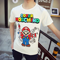 2017 Super Mario T-shirt Lovers T Shirt for Couples Short-sleeve Tshirt Super Mario Bros Tee Shirt Trend Loose Mens Clothing