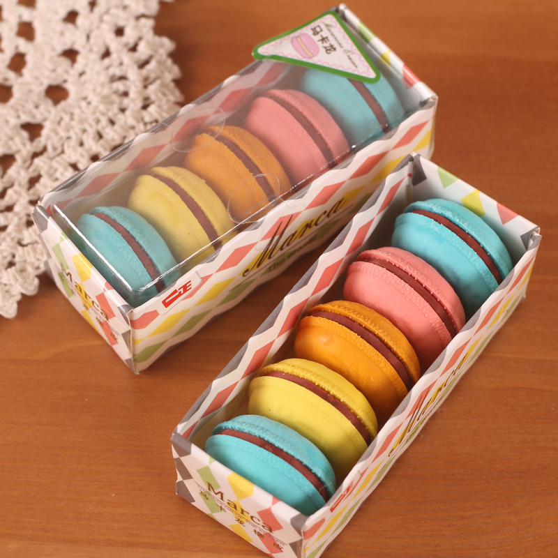5 Pcs/Lot Macarons 3D Eraser Student Gift School Supplies Cute Stationery Kids Utiles Gomme Kawaii Super Junior Pencil