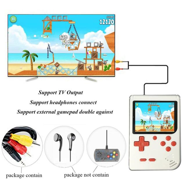 "FC 280 Video Game Player for Kids Adults JJFUN TV Video Gaming System Built-in 400 Retro Classic Games 3.0"" LCD 1 USB Charge"
