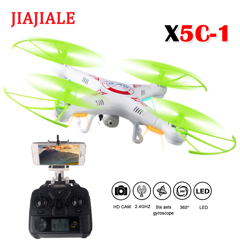 RC Drone Quadcopter x5c-1 HD camera 2.4GHz 6 axis system stable performance 3D flip one button return, no head mode can easily RC Drone Quadcopter x5c-1 HD camera 2.4GHz 6 axis system stable performance 3D flip one button return, no head mode can easily