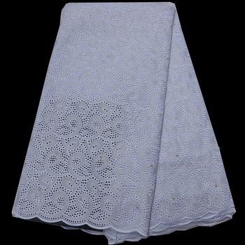 Free shipping (5yards/pc) High quality African dry lace fabric white Swiss lace fabric for party dress 12 colors CLP76