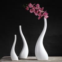 Ceramic Vase Home Decoration Accessories Flower Vase For Home Ornaments Wedding Decor Gift