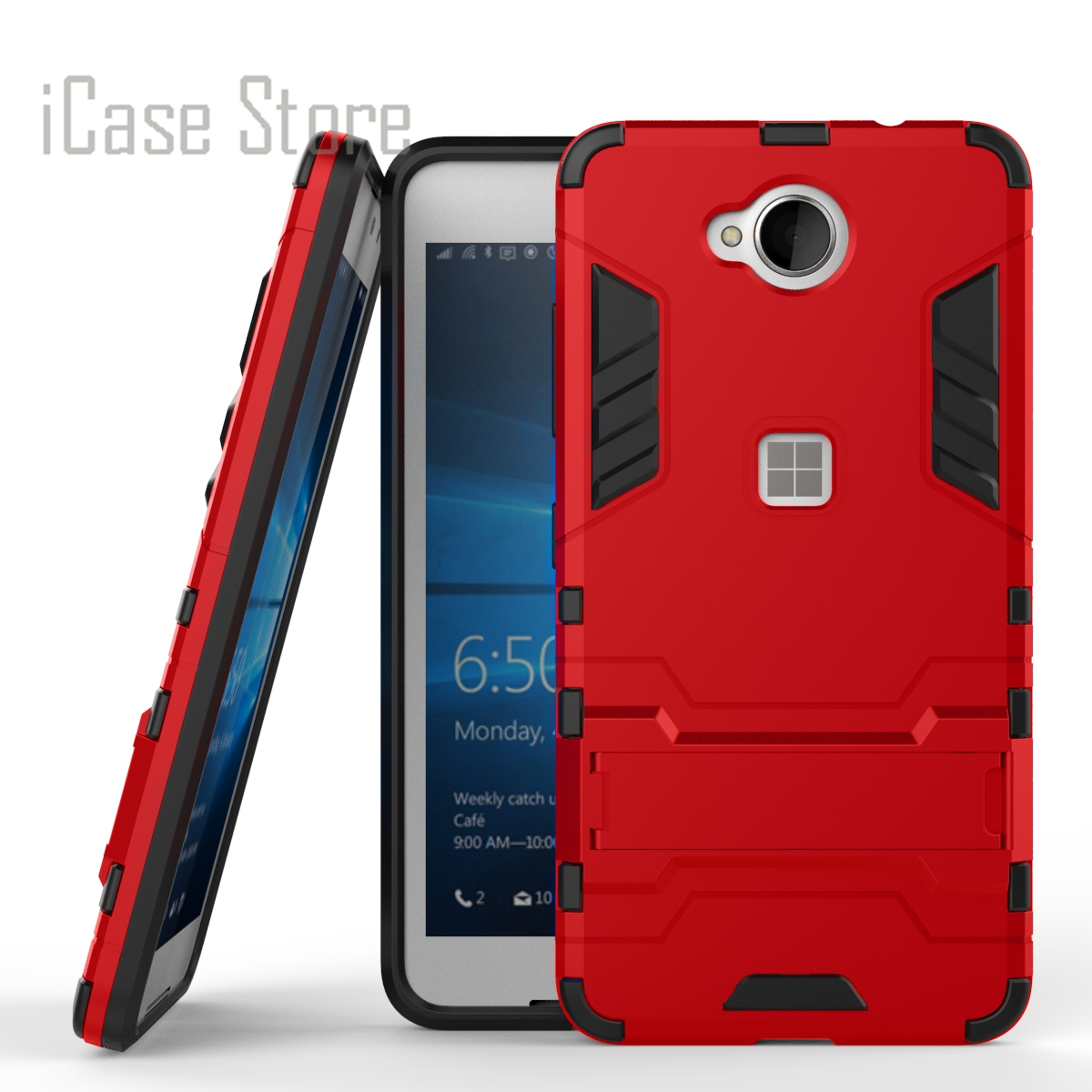 For Microsoft Nokia Lumia 650 Case Heavy Duty Armor Case Hybrid Hard Shockproof Silicone ...