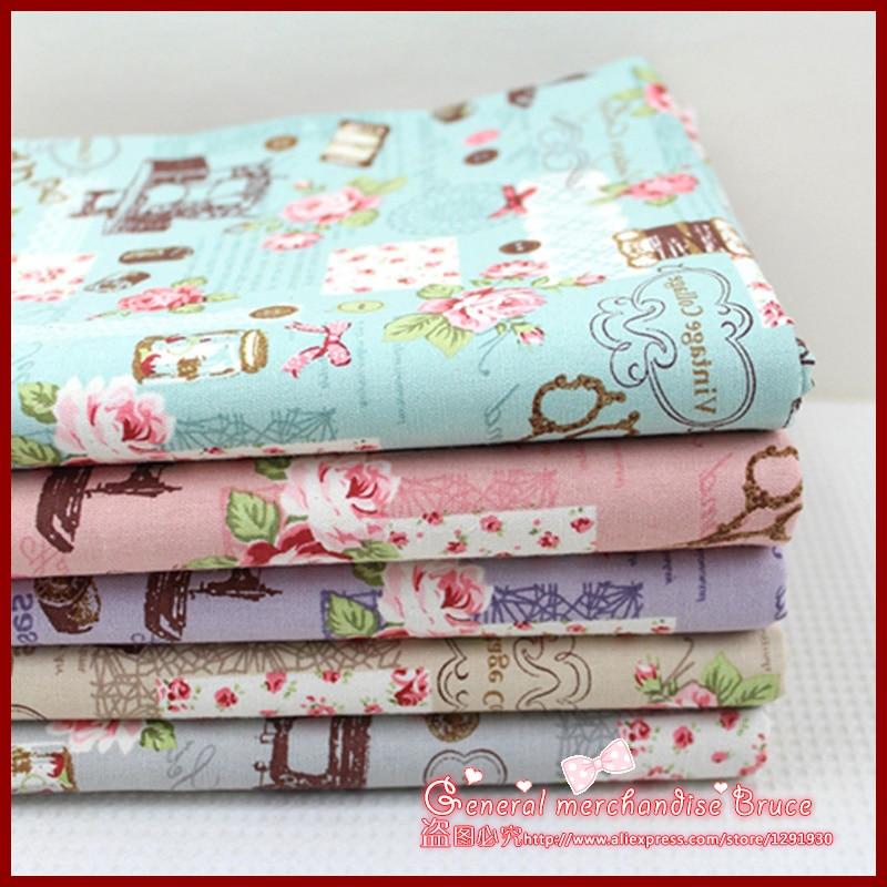 1pcs 155 50cm stripe series Retro patchwork baby cloth font b tartan b font ethnic fabric