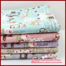 1pcs 72 50cm stripe series Retro patchwork baby cloth tartan ethnic fabric cotton crafts materials tilda