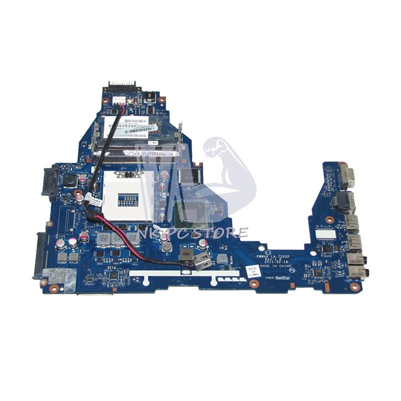 NOKOTION K000124370 LA-7202P Laptop Motherboard For Toshiba Satellite C660 Main Board HM65 DDR3 GMA HD3000 t000025060 main board for toshiba satellite dx730 dx735 laptop motherboard system board hm65 hd3000 ddr3