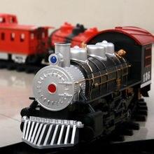 Electric Train Set Kids Educational Toys Battery Operated Railway Car Xmas Gift Tomas Train