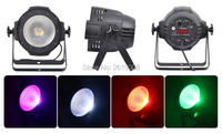 8pcs/lot with barn door cob led light RGBW 4in1 100w cob led par can dmx led cob par light