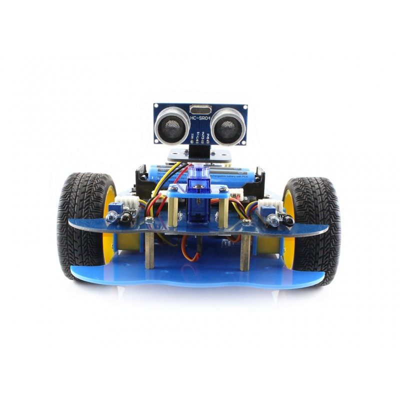 Waveshare AlphaBot-Ar-Basic UNO PLUS Development Board AlphaBot Platform Ultrasonic Sensor Modules Basic Robot Building Kit Car