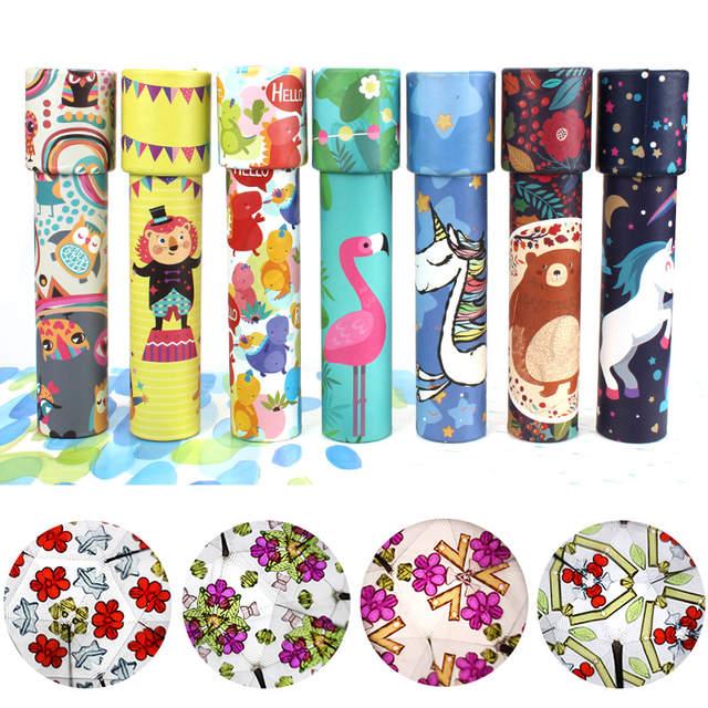 Random Color Random Forest Series Move on 1Pc Cartoon Rotating Kaleidoscopes Kids Children Educational Science Toys