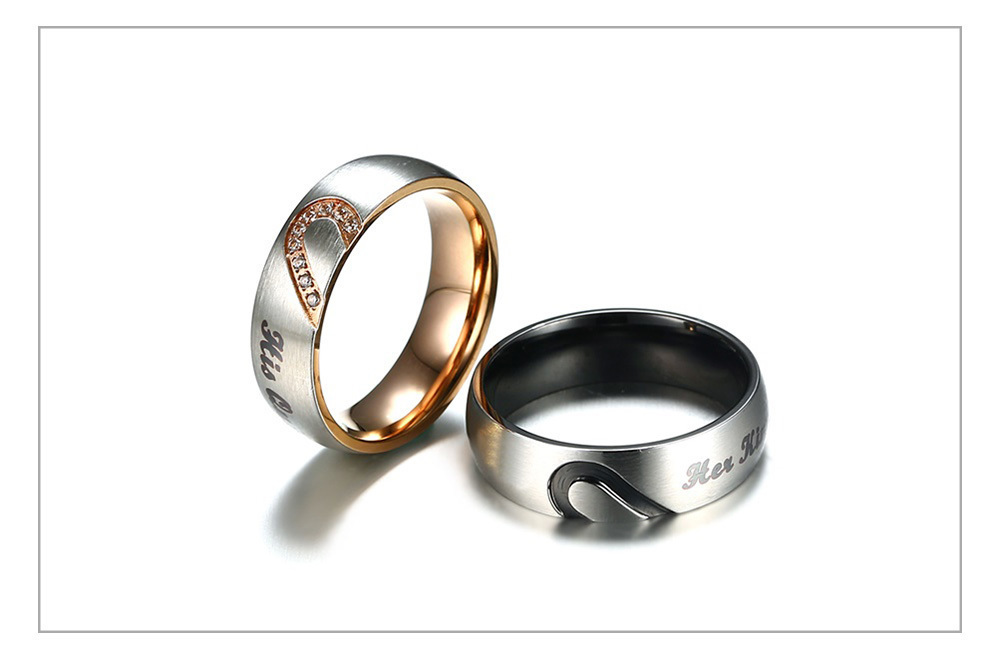 Queen Couple Wedding Band Ring 50