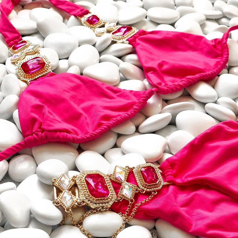 HTB1McyOPPTpK1RjSZKPq6y3UpXaT 2019 Rhinestone Swimsuit Women Bikinis Crystal Diamond Bikini Set Metal Chain Swimwear female Luxury Aristocratic Swimming Suit