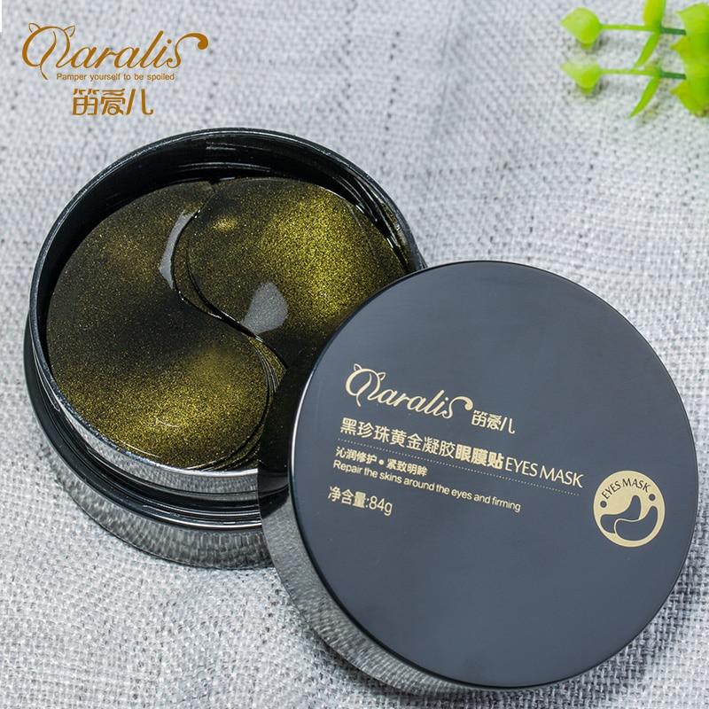 Negro perla oro colágeno máscara 60 piezas Ageless Anti arrugas ojo bolsas ojeras Puffy oro Gel ojos parches cara cuidado