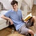 100% Хлопок Pijama e Pijama Брюки Мужские Пижамы Наборы Человек пижамы устанавливает Супер хорошее качество pajamasD20