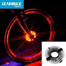 Leadbike 2016 Nueva Bicicleta Hubs Ciclismo Luz Delantera de la Bici/Luz Trasera Led Luz de Advertencia Impermeable Accesorios Bike Spoke Wheel