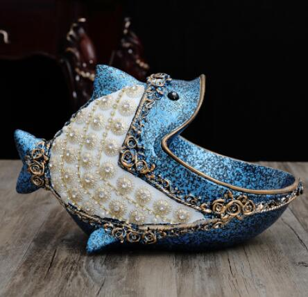 Perle artificielle poisson statue et grenouille statue sculpture accessoires de décoration estatua escultura statues cadeau