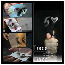 Trace (Gimmick and DVD) de Will Tsai -Magic Tricks impactantes impresiones de tarjetas de herramientas Liquid, Accessories, stage magic props 81121