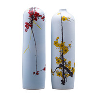 New Chinese Style Classical Porcelain Flower Vase Home Decoration Jingdezhen High Quality Handmade Handpainted Ceramic Vases