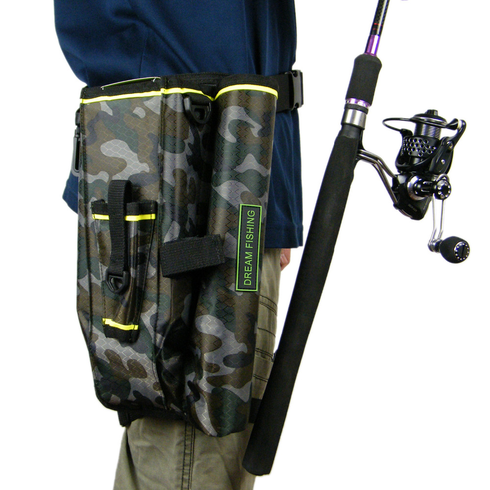 Fishing tackle bags camouflage camo multifunction waist for Camo fishing pole