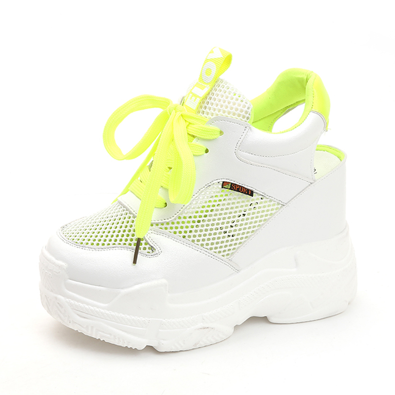 Rimocy breathable air mesh platform sneakers women 2019 summer fashion high heels wedges sandals woman casual shoes sandaliasRimocy breathable air mesh platform sneakers women 2019 summer fashion high heels wedges sandals woman casual shoes sandalias