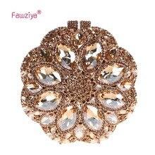 Fawziya Evening Clutches Flower Design Luxury Plum Flower Big Diamond Clutches And Evening Bags For Womens Clutch Purse