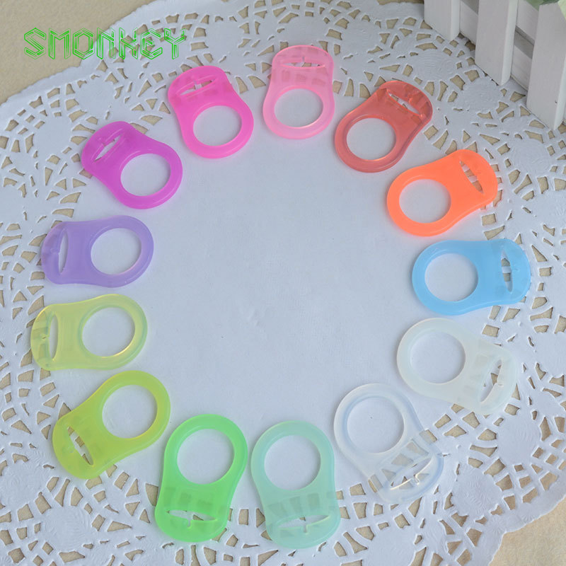 BPA free Color Silicone Baby Mam Pacifier Adapter Rings for NUK nipple Dummy Pacifier Holder Clip