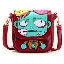 New Women Messenger Bags Cute Cartoon Printing Mini Crossbody Bag For Girl Bolsa Feminina Casual Sling Zombies Shoulder Bag 2016