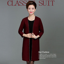Middle-aged women's clothing paragraph mother grows in two-piece outfit in the spring and autumn clothes   PYME-660