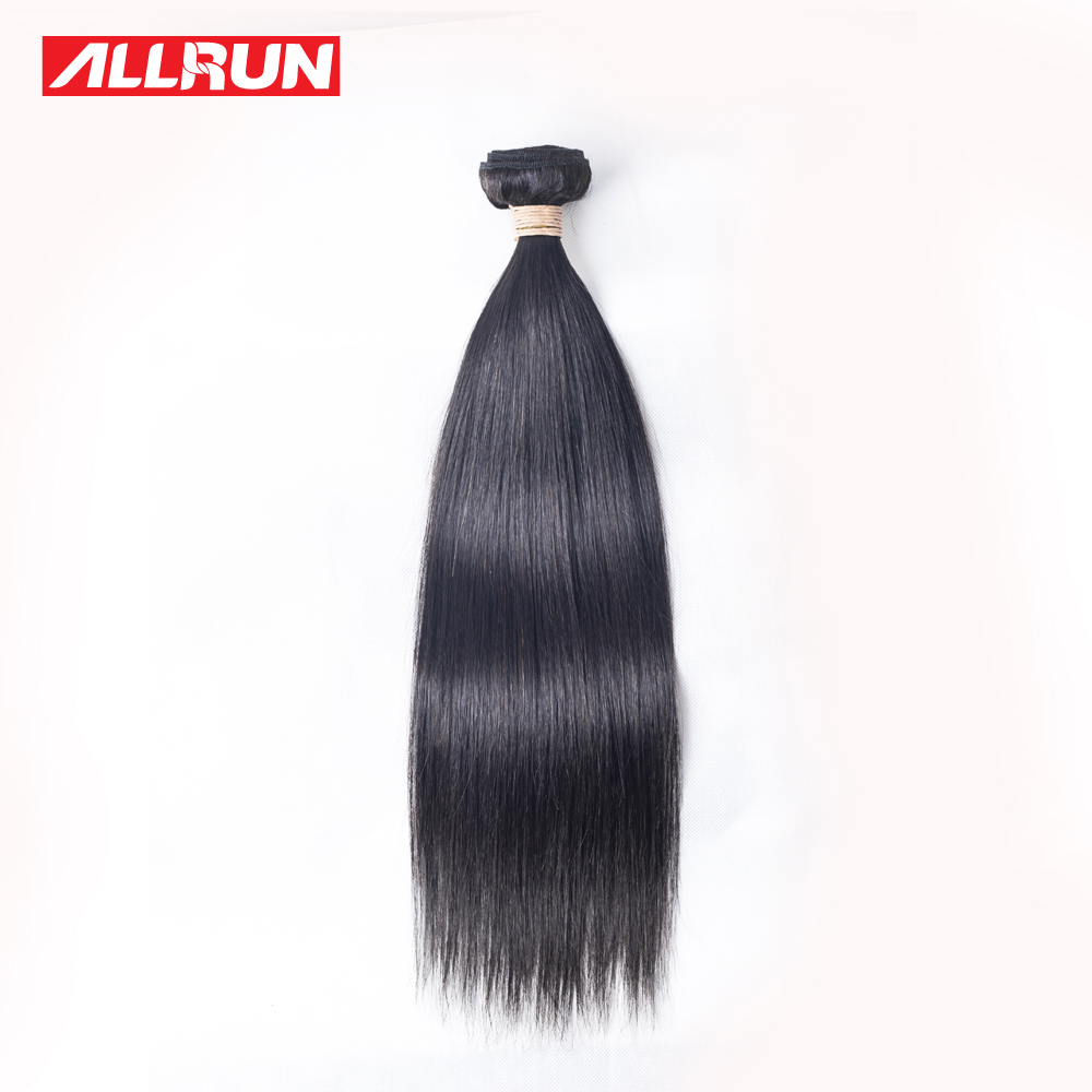 Straight perm products - Allrun Straight Hair Extensions Brazilian Non Remy Hair Bundles 12 28 100 Human Hair Weaving 1pc Natural Color Can Be Permed