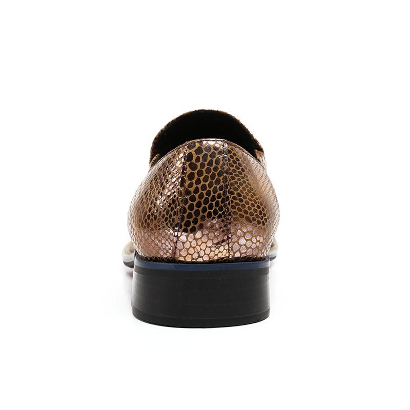 Deslizamento Dança Jacaré Em Size Sapatos Plus Dourado Festa Apontou Homem Toe Mocassins Handmade Homens Ouro Couro Dos Casamento Prom Genuíno Sl137 Italiano De xIHFPX