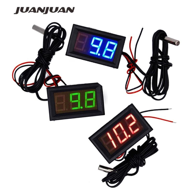 New arrive -50~110°c LED Temperature meter Detector Sensor Probe 12V Digital Thermometer Monitor tester 15%OFF