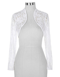 Cheap black white lace bridal boleros wedding jackets for women bride long sleeve cropped wrap shrug.jpg 250x250