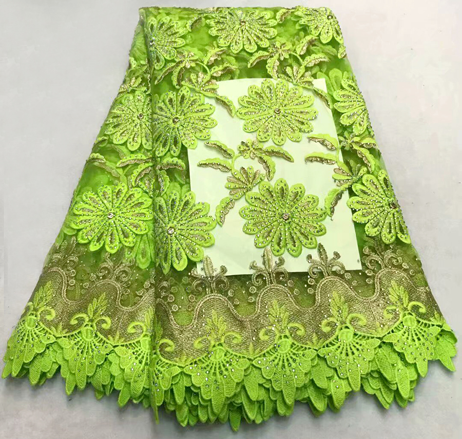 Most popular high-quality French embroidery lace fabrics with stone, African gauze lace fabricsMost popular high-quality French embroidery lace fabrics with stone, African gauze lace fabrics