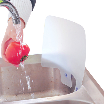 1Pc New Arrival Kitchen Sink Water Splash Guards with Sucker Waterproof Screen for Dish Fruit Vegetable Washing Anti-water Board