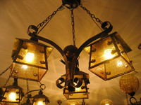 Fashion antique wrought iron pendant light 3 head living room light Dining room pendent lamp free shipping