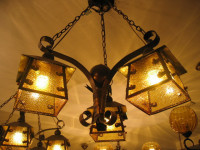 Fashion Antique Wrought Iron Pendant Light 3 Head Living Room Light Dining Room Pendent Lamp Free